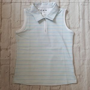 Adidas Striped Polo Golf Tank Top